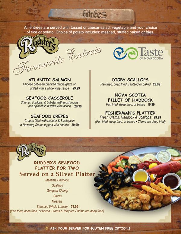 Rudders Brew Pub Seafood Restaurant